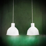 White lamps on green grungy background Royalty Free Stock Photo