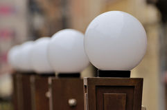 White lamps. A photo of round white lamps stock photos