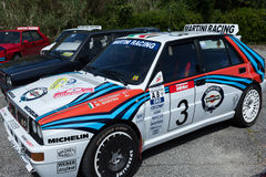 White Lancia Delta HF Integral Royalty Free Stock Photo