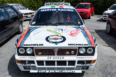 White Lancia Delta HF Integral Martini Racing Royalty Free Stock Images