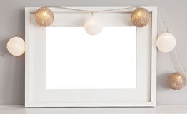 White landscape frame mockup Royalty Free Stock Photos