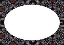 White Landscape Frame with Ornate Decorated Rounded Borders