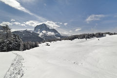 White Landscape Of Val Gardena, In The Dolomites Stock Photos