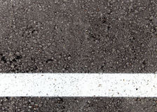 White lane on asphalt texture background. White line on asphalt textured background stock photography