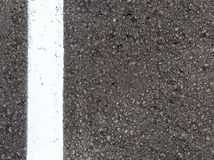 White lane asphalt texture, background. White line on asphalt textured background stock image