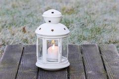 White lantern in the garden Stock Images
