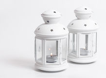White lanterns Stock Photography