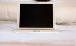White laptop Stock Photography