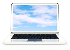 White laptop Stock Image