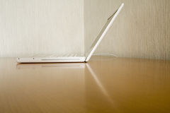 White laptop Royalty Free Stock Image