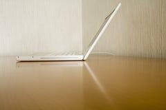 White laptop Royalty Free Stock Image