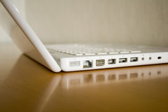 White laptop Stock Photo