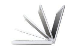 White Laptop Royalty Free Stock Images