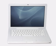 White laptop with clipping path Royalty Free Stock Photography