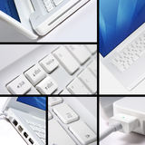 White laptop collage Royalty Free Stock Photo