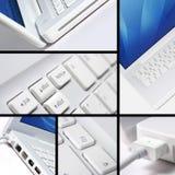 White laptop collage Royalty Free Stock Photo
