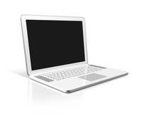 White Laptop computer isolated on white Royalty Free Stock Photos