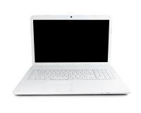 White laptop Stock Image