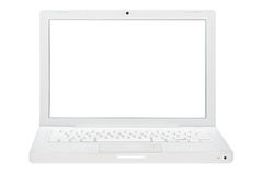 White laptop isolated. Stock Images