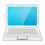 White laptop isolated on white Royalty Free Stock Photos