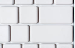 White laptop keyboard close-up Royalty Free Stock Images