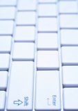 White laptop keyboard close-up Royalty Free Stock Image