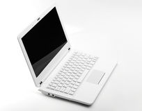 White laptop Royalty Free Stock Photography