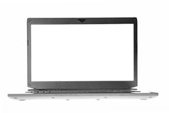 White laptop screen Royalty Free Stock Photos