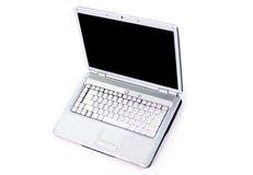 White laptop.  on white background. Stock Image