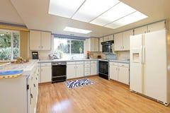 White large kitchen room Stock Photos