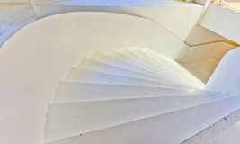 White large staircase. Front view Stock Image