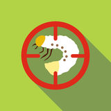 White larva icon, flat style. White larva icon. Flat illustration of white larva vector icon for web Stock Photography