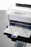 White laserprinter Stock Image