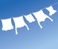 White laundry Royalty Free Stock Images