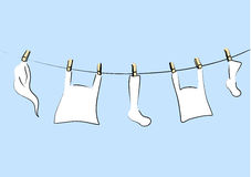 White laundry. Royalty Free Stock Image