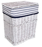 white laundry basket Royalty Free Stock Photo