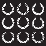 White laurel wreaths 1 Royalty Free Stock Images
