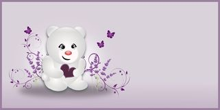 White Lavender Small Bear Royalty Free Stock Photo