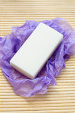 White lavender soap Royalty Free Stock Image