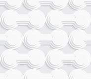 White layered circles seamless Stock Photography