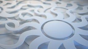 White layered sunburst background Stock Image