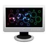White LCD monitor Stock Image