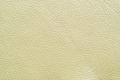 White leather. Furniture upholstery leather of white color Royalty Free Stock Images