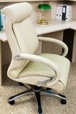 White leather armchair Stock Image