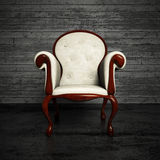 White leather armchair Royalty Free Stock Photo