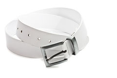 White leather belt Royalty Free Stock Photography