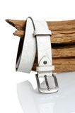 White leather belt Stock Photography