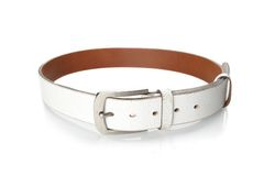 White leather belt Stock Image