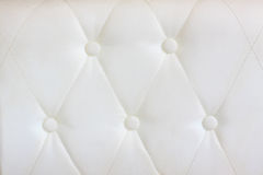 White  leather with button decorated Royalty Free Stock Photo