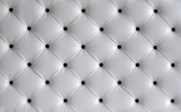 White leather button headboard background Royalty Free Stock Image